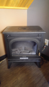 Nice Black Electric Fireplace
