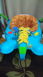 Baby musical jumping horse exersaucer