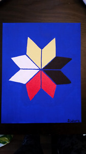Mi'Kmaq star original painting