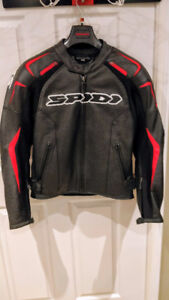 Black/Red SPIDI Leather Jacket - NEW Condition