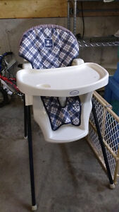 High chairs, exersaucer, etc