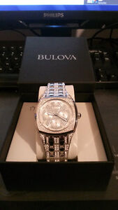 Mens Bulova Swarovski Crystal Watch