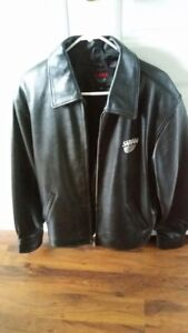Mens New Leather Jacket Never Worn. Mint Condition. Size Med