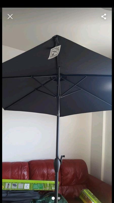 Aliminium parasol new | in Ashton-on-Ribble, Lancashire | Gumtree