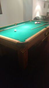 Elite Oak Billiard Table