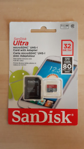 New SanDisk 32GB 80MB/s SD card