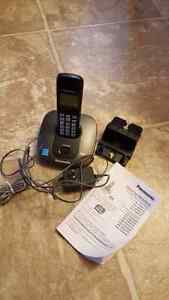 A Black set of Panasonic Home-Telephone with answering machine