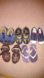 Toddler boy's sandals and shoes.