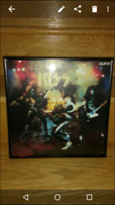 KISS Alive LP Autographed by Gene Simmons