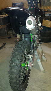 Dirt bike and riding gear package
