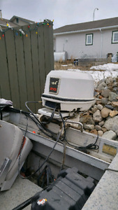 1996 20 hp 2-stroke Johnson outboard motor