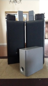 Pioneer, Acoustic and Sony Speakers with Subwoofer