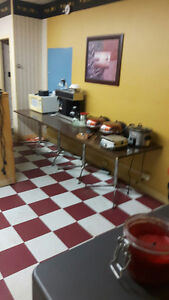 Tables, large oak counter, BBQ chicken oven, cash register, Kawartha Lakes Peterborough Area image 2