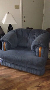 Blue Couch & Love seat , Arm chair Prince George British Columbia image 2