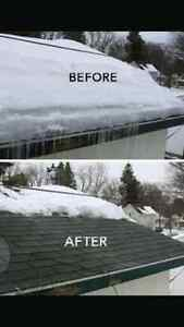 Snow removal-ROOFS/DECKS WALK WAYS Cornwall Ontario image 1