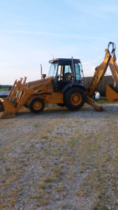 BACKHOE Excavating service >>> PLUS TRACTOR WITH REAR CUTTER