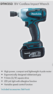 """Makita Dtw 253 wrench impact 3/8"""""""