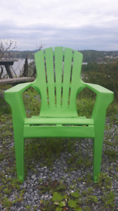 Adirondack chair, plastic