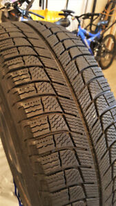 Gently Used Michelin X-Ice Xi3 Winter Tire Set 205/65R16 w/ Rims