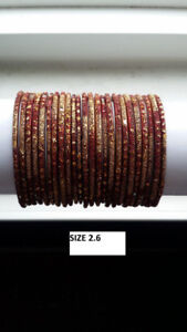 INDIAN BANGLES + BRACELETS (BRAND NEW SETS) + SAREE (BRAND NEW)