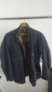 Barbour International Custom Waxed Cotton Jacket - Black - 40""