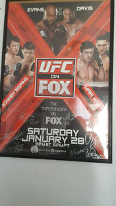UFC ON FOX 2 AUTOGRAPHED POSTER FRAMED