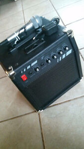 First Act amplifier with Stagg electric guitar