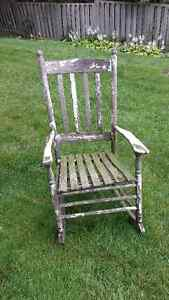 Vintage garden rocking chair