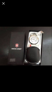 Brand new in box Swiss Army pocket watch