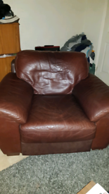 Sofa..couch..leather armchair...quality