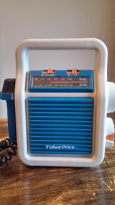 Vintage 1984 Fisher Price AM FM Radio Sing Along