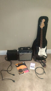 Fender Electric Guitar with accessories