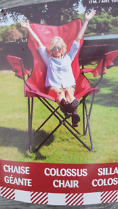 Giant Folding Red  Camping Chair