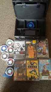 Sony psp with 13 games and case