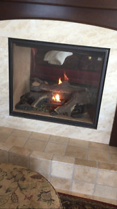 """Town and country 36"""" see through fireplace"""