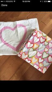 IKEA twin heart duvet cover and pillow case