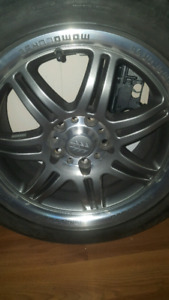 Set of 4 rims and new low profiles