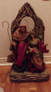 Christmas Decoration - Holy Family Display