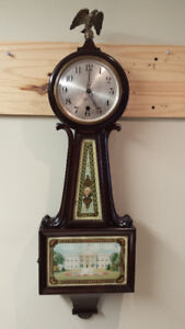 "BANJO CLOCK ""SESSIONS"" IN GREAT CONDITION."