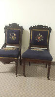 2 beautiful antique chairs