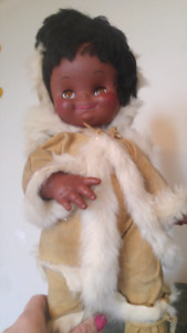 1965 Jolly Toys Eskimo Doll GREAT condition