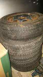 MOTOMASTER 13 INCH ALL SEASON TIRES FOR SALE! GOOD CONDITION!
