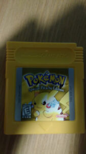 Gameboy Color Pokémon Special Pikachu Edition Game