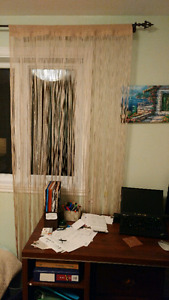 Beige curtains. Euro style