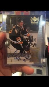Mario Lemieux 1999 Upper Deck Signed Card RARE!!!