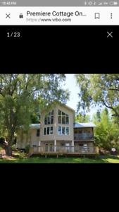 Week Long Cottage Rental Available 7-14 July. Near Kingston