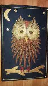 String Art  Vintage - Owl