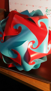 "MrLampShops - Red and Blue Panels, ""Build-your-own Jigsaw Lamp"""