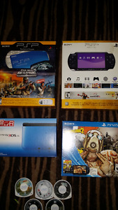 EMPTY SYSTEM BOXES + PSP GAMES + PS2 multitap