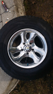 '97-'03 F150 Polished Aluminum Rims & 4 Blizzack Winter Tires